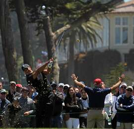 Tiger Woods drives the 3rd hole during the second round of the 112th U.S. Open at The Olympic Club on Friday June 15, 2012 in Daly City, California.