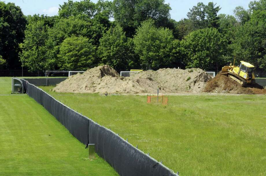 Work under way on the new athletic stadium at UAlbany in Albany N.Y. Friday June 15, 2012. (Michael P. Farrell/Times Union) Photo: Michael P. Farrell