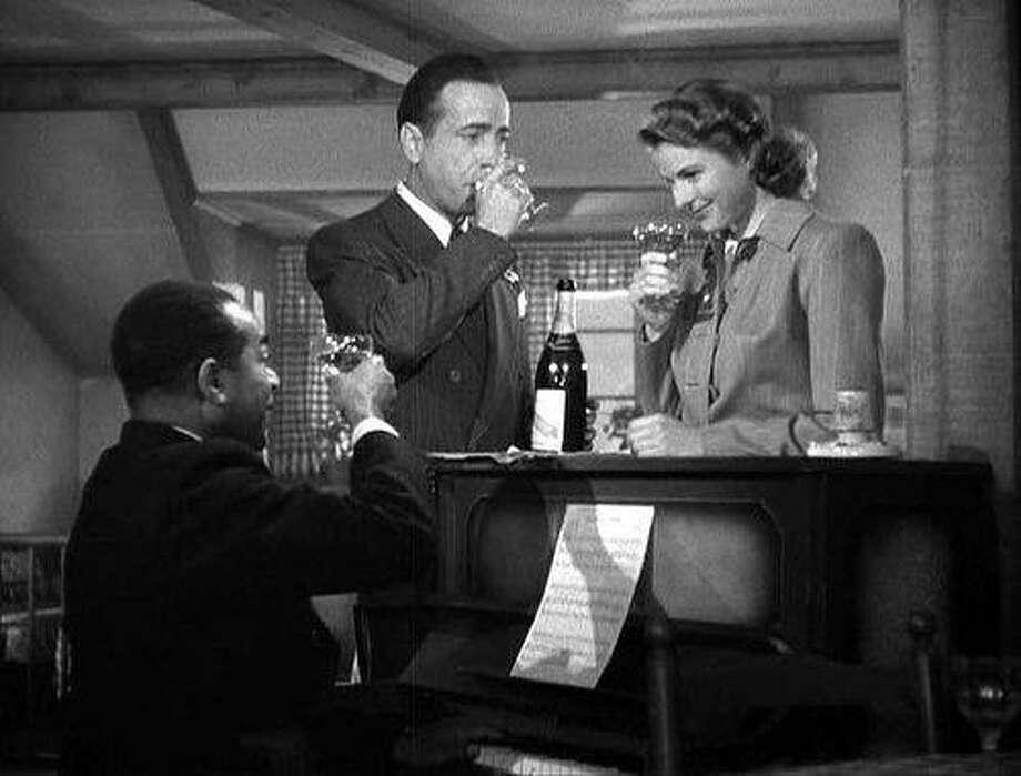 """Dooley Wilson, Humphrey Bogart and Ingrid Bergman in """"Casablanca."""" Photo: Warner Bros. 1942"""