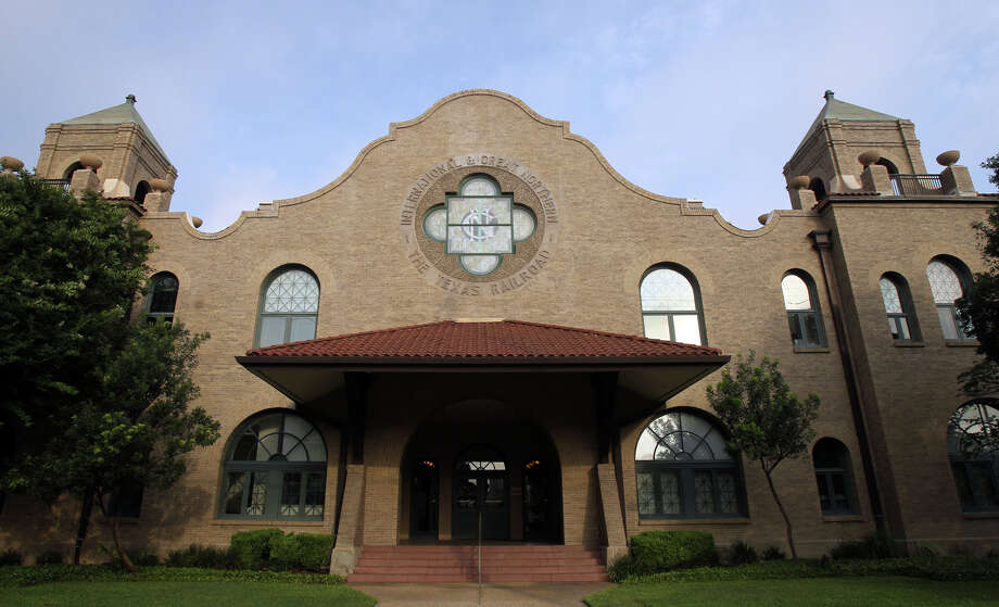 This is the old International and Great Northern railroad depot. The building is currently a credit union and will become the site of a West Side transportation hub. Photo: San Antonio Express-News