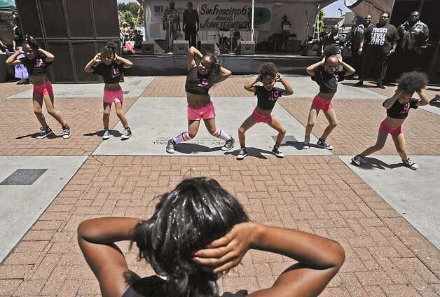 "Dance crew ""Allstar""  performs at San Francisco's annual Juneteenth Festival in the Fillmore on June 16, 2012, San Francisco, Calif. Photo: Yue Wu, The Chronicle"