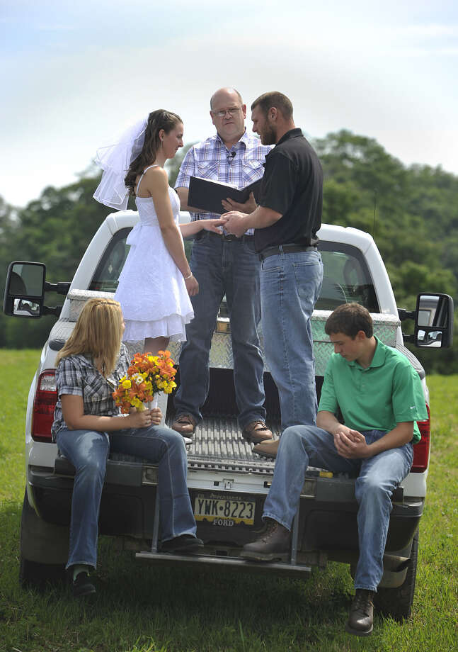 15. Erie, Pa.OK, this wedding was in nearby Wattsburg, Pa., but we couldn't resist. Photo: Andy Colwell, ERIE TIMES-NEWS / ERIE TIMES-NEWS