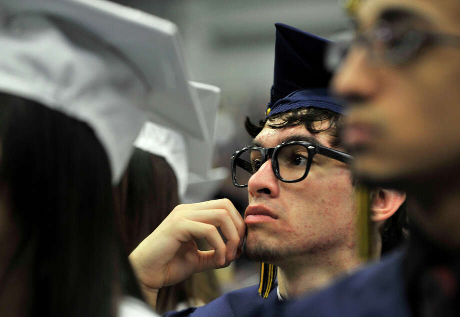 Scenes from the Brookfield High School graduation in the O'Neill Center at Western Connecticut State University's westside campus in Danbury on Saturday, June 16, 2012. Photo: Jason Rearick / The News-Times