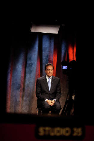 Henry Cisneros participates as a guest live on the Fox Business Network at KABB FOX 29 in San Antonio on Wednesday, June 6, 2012. Photo: Lisa Krantz, San Antonio Express-News / 2012 San Antonio Express-News