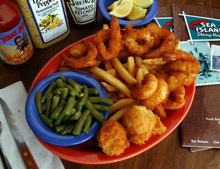Sea Island Shrimp House, various locations, features a kids menu with a smaller portion of wild-caught Texas Gulf shrimp, fish nuggets made from hand-filleted white fish and all-white breast meat chicken strips. Photo: San Antonio Express-News File Photo / EXPRESS-NEWS