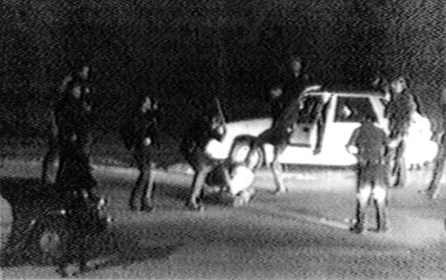 Rodney King was beaten by Los Angeles police in 1991, setting in motion a series of events that resulted in inner-city violence. A similar narrative plays out today. Photo: George Holliday, Associated Press
