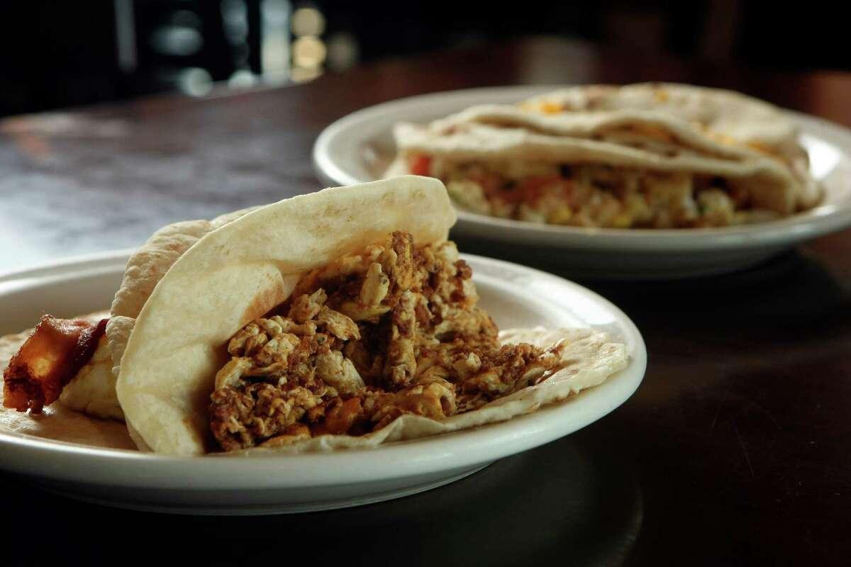 Breakfast tacos at Mary Lou's Café.