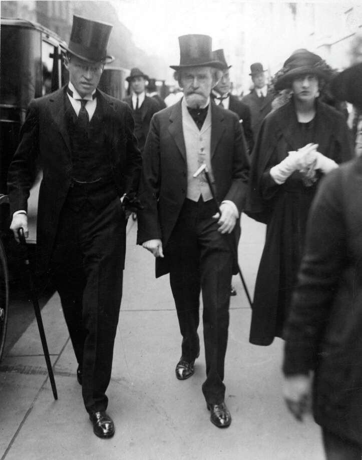 FILE - In this April 29, 1922 file photo, former U.S. Sen. William A. Clark, center, marches in New York's Easter Parade with his daughter, Huguette, right, who ended up a recluse for more than two decades in New York hospital rooms before dying at the age of 104. The late copper heiress' huge gifts to her staff are now in the spotlight in a New York City court fight and an official handling the estate wants $37 million returned. (AP Photo/New York Times, Paul Thompson, File) MANDATORY CREDIT; NO SALES; NYC OUT Photo: Paul Thompson, AP / AP1922