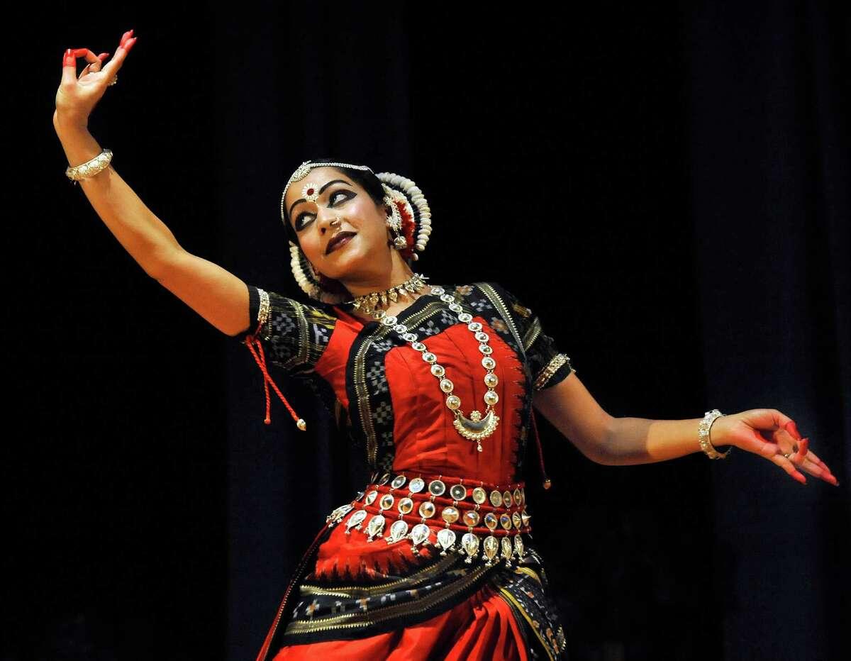 Anindita Nanda performs Odissi, Indian Classical Dance, during Natyatarang 2012, in Danbury, June 16.