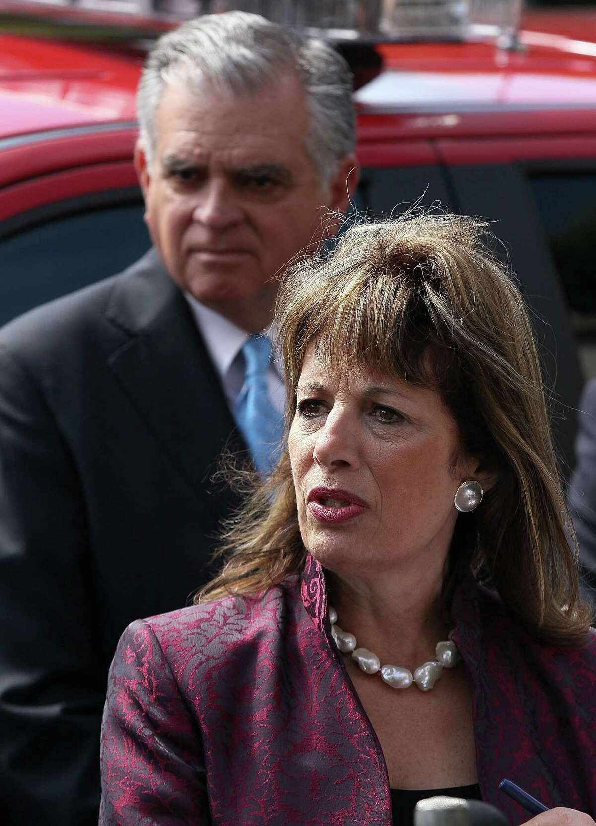 """U.S. Rep. Jackie Speier, D-Calif., was to ask the House Armed Services Committee to investigate the sexual misconduct scandal at Joint Base San Antonio-Lackland. """"What is being uncovered at Lackland flies in the face of what we are being told by our military,"""" Speier said."""