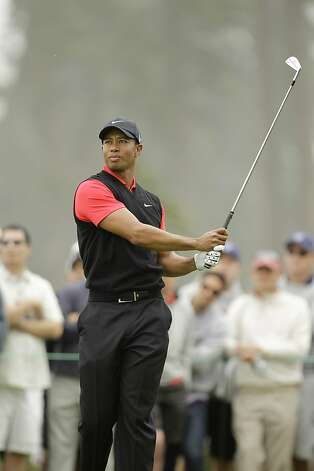 Tiger Woods during the fourth round of the U.S. Open Championship golf tournament Sunday, June 17, 2012, at The Olympic Club in San Francisco. (AP Photo/Ben Margot) Photo: Ben Margot, Associated Press