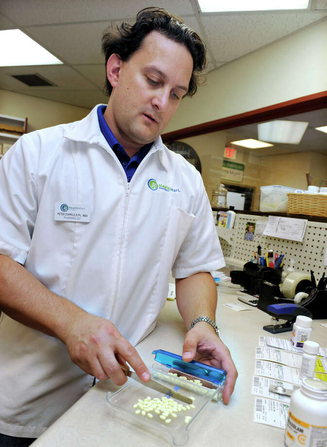 Peter D'Aprile, RPh, MBA, is the owner and pharmacist of English Apothecary in Bethel. Photo: Carol Kaliff