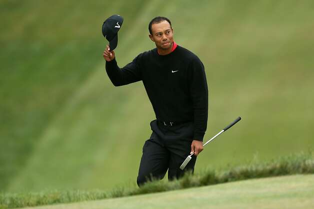 SAN FRANCISCO, CA - JUNE 17:  Tiger Woods of the United States waves to the gallery on the 18th green during the final round of the 112th U.S. Open at The Olympic Club on June 17, 2012 in San Francisco, California.  (Photo by Andrew Redington/Getty Images) Photo: Andrew Redington, Getty Images