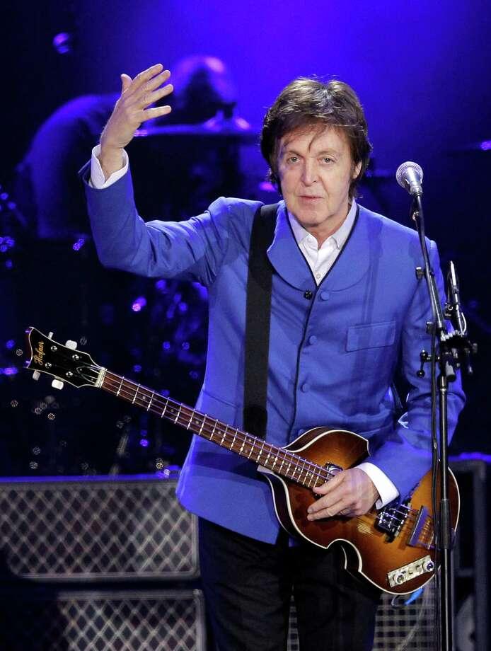 Paul McCartney hits Houston on Nov. 14 at Minute Maid Park.Net worth: $800 million Photo: PATRICK KOVARIK, AFP/Getty Images / AFP ImageForum