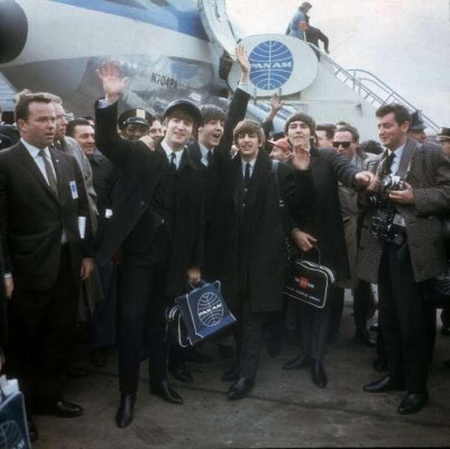 The Beatles arriving in NY on February 6, 1964. (AP)
