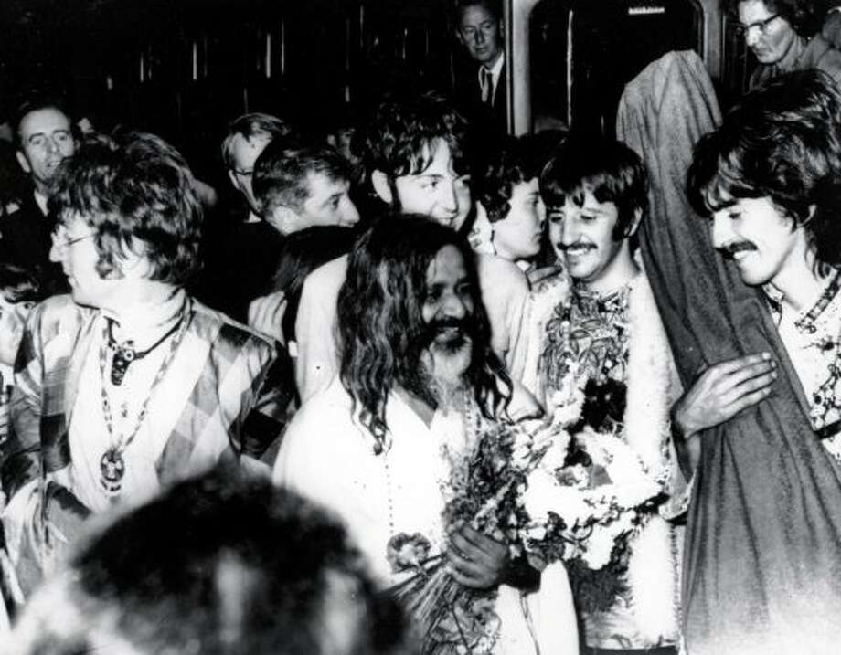 1967 -- The Beatles with the Maharishi. (Associated Press)