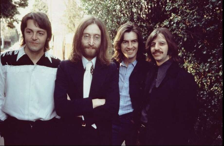 Paul McCartney, John Lennon, George Harrison, Ringo Starr.  Photo taken April 1969. (Apple Corps Ltd. / ABC)