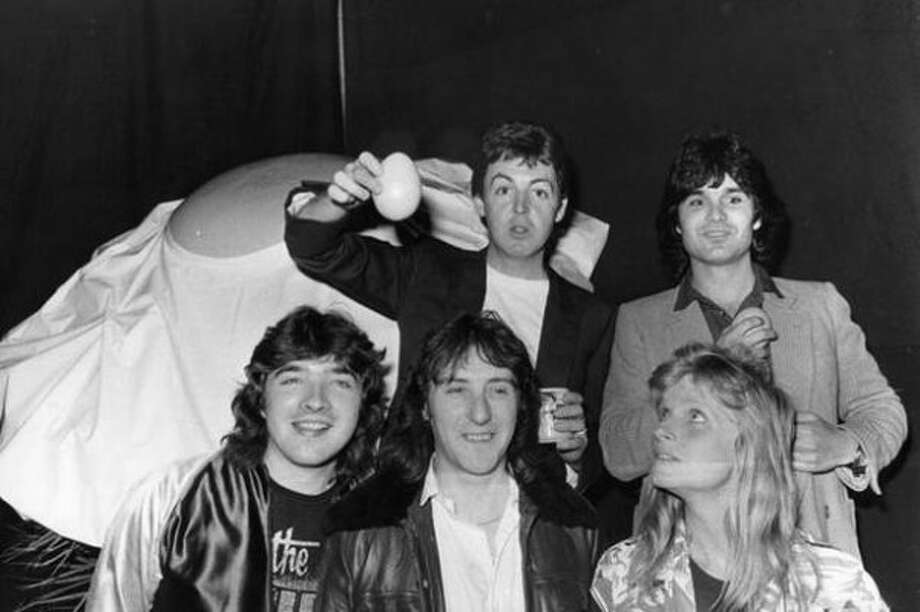 1979:  Wings in 1979, around the time McCartney became the best selling recording artist in history.