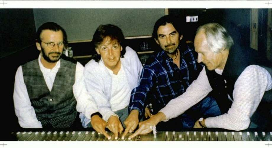 1994:  Publicity picture for the Beatles anthology.  Look how the other former Beatles are phoning it in, but McCartney is always closing. (HO / REUTERS)