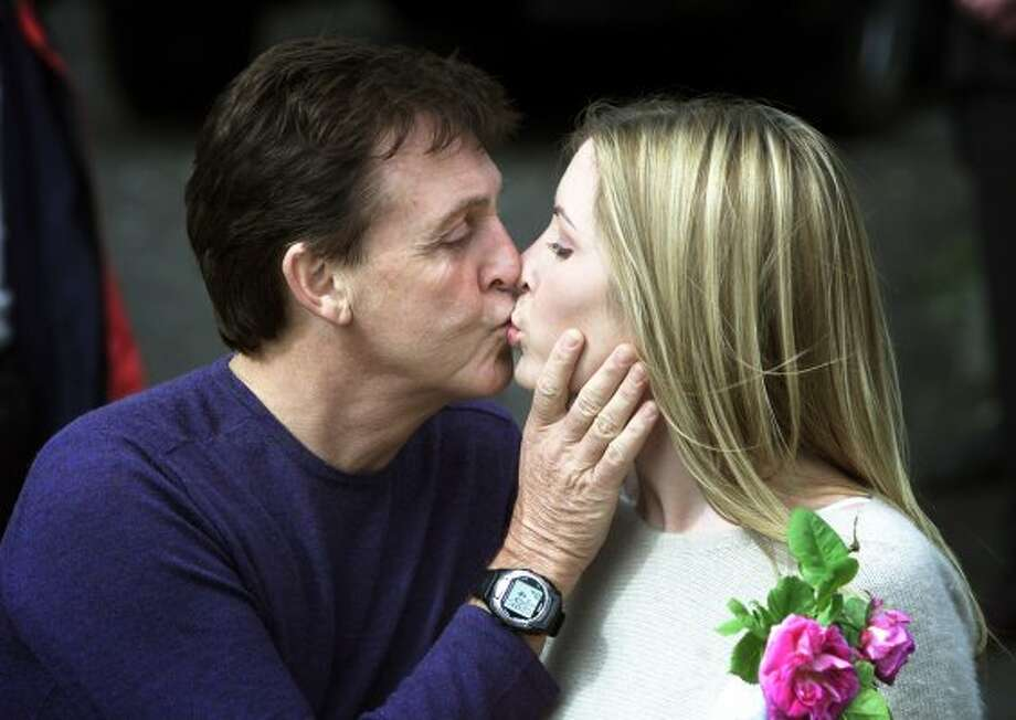 2002:  In the You're Never Too Old to Do Something Really Stupid Department -- McCartney announces his engagement to Heather Mills. (PAUL MCERLANE / REUTERS)