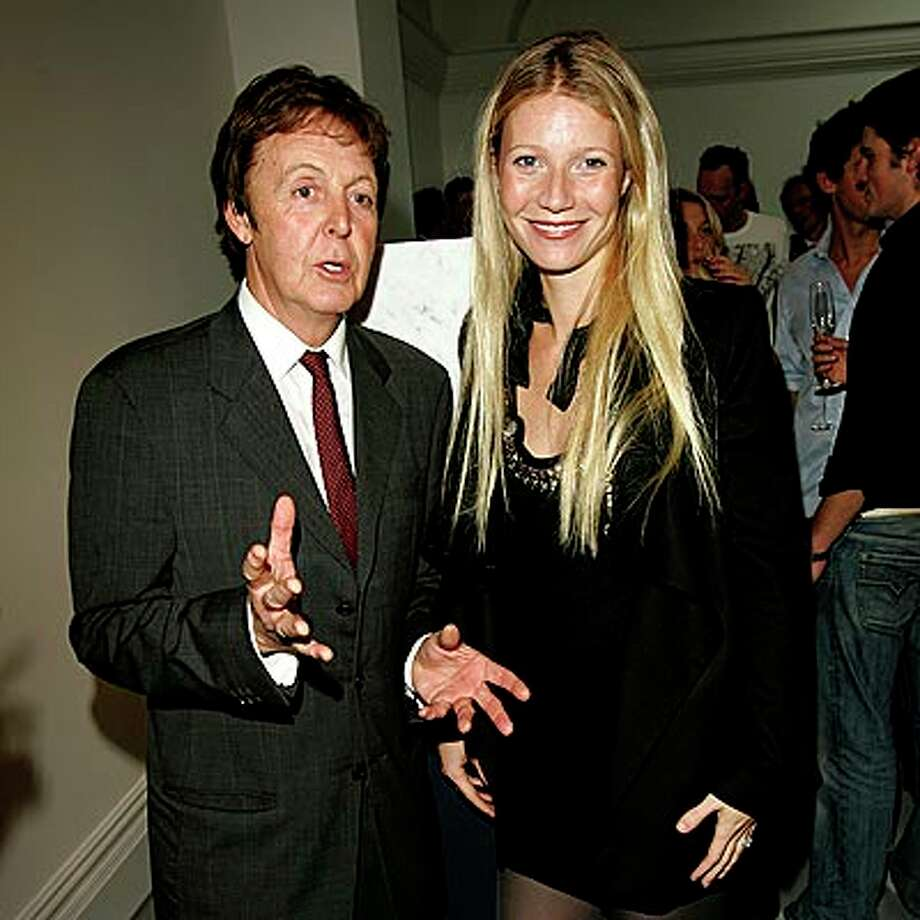 2007:  McCartney runs into Gwyneth in London.  And she's his type, too.