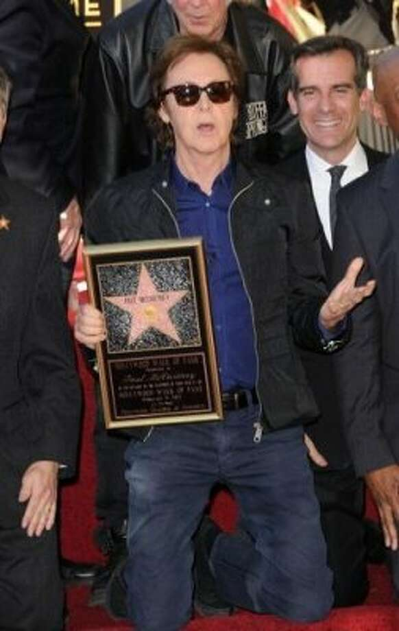 Paul McCartney is honored with a star on  The Hollywood Walk Of Fame on February 9, 2012 in Hollywood, California.  On the 48th anniversary of the Beatles first performance on the Ed Sullivan Show. (Getty Images)