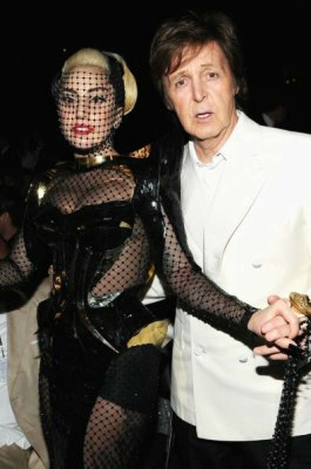 2012:  Just this February -- Sir Paul and Lady Gaga.