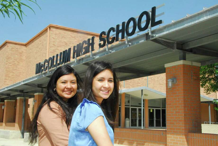 Pictured from the left are McCollum High School graduates Juany Torres and her little sister Julie Torres. Photo: Courtesy Photo