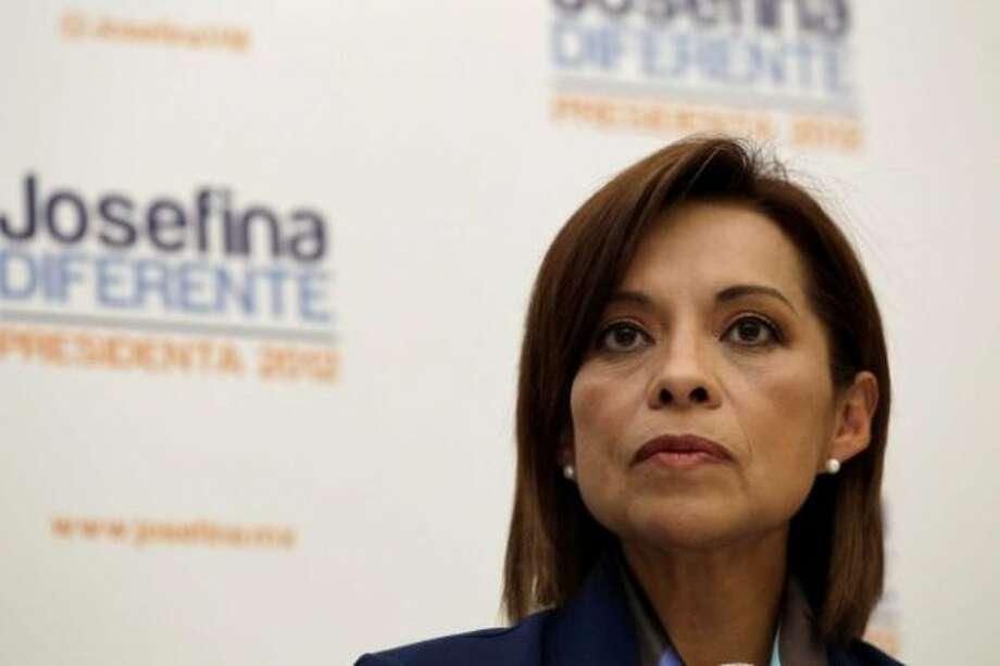 National Action Party (PAN) candidate Josefina Vazquez Mota belongs to the same party as Felipe Calderon.  (AP)