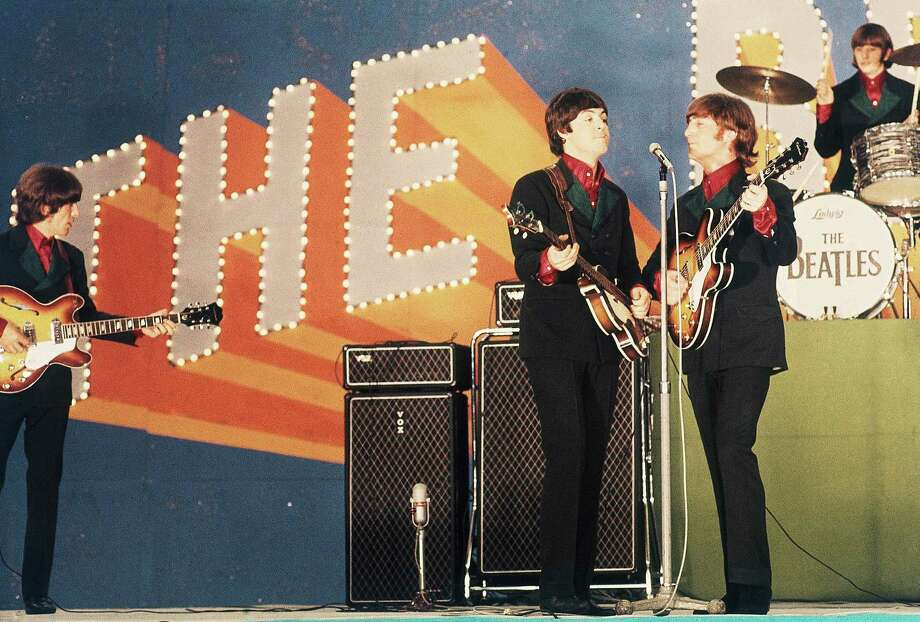 In this June 30, 1966 file photo, the Beatles perform at Budokan Hall in Tokyo for the first time. From left: George Harrison, Paul McCartney, John Lennon and Ringo Starr. McCartney turned 70 years of age Monday June 18, 2012. (AP Photo/File) Photo: Associated Press / AP1966