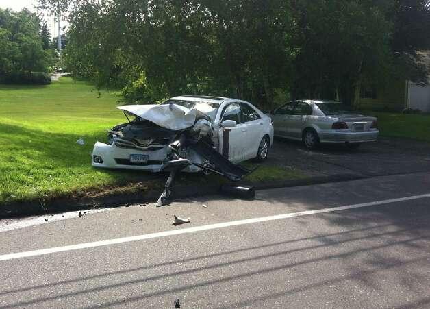 Texting Car Crash Car Crash on Turnpike Images