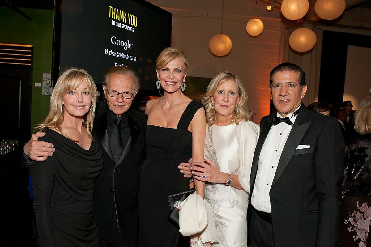Bo Derek, Larry and Shawn King, Wendy Walker and Jaime Lalinde at the WildAid Gala benefitting wildlife conservation at the Terra Gallery in San Francisco on May 11.