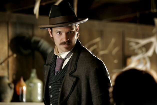 DEADWOOD: Timothy Olyphant. photo: Doug Hyun  Ran on: 06-09-2006  Timothy Olyphant appears in &quo;Deadwood,&quo; an HBO drama that will follow its third season with a pair of two-hour movies. Photo: Doug Hyun