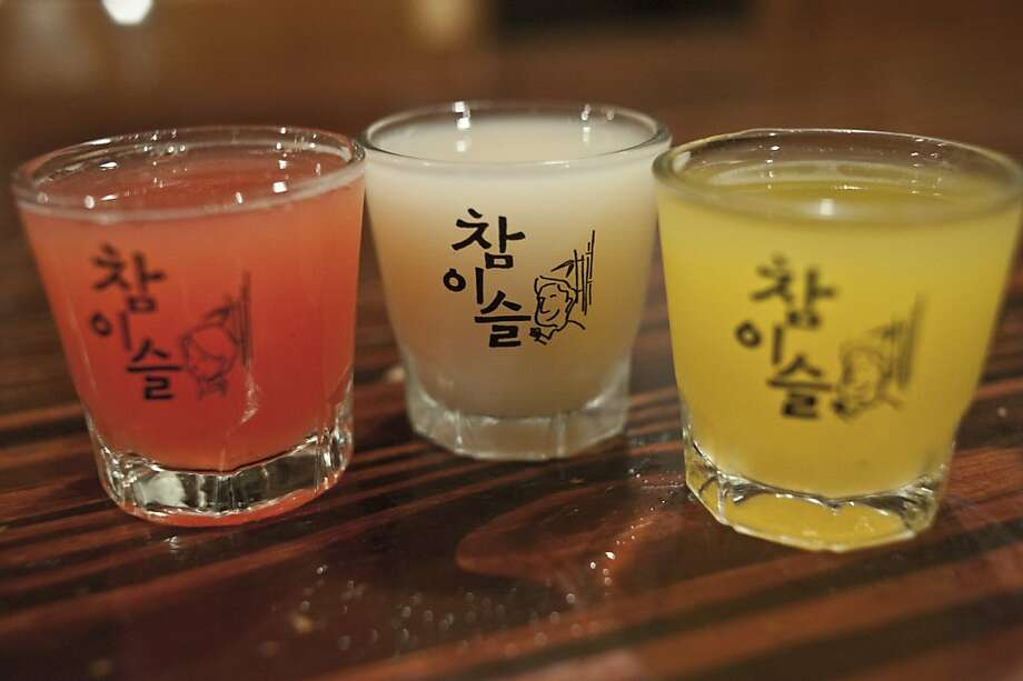 There are three different favors of Soju at Toyose. Photo: Yue Wu, The Chronicle