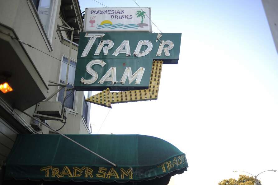 Trad'r Sam is located at 6150 Geary Blvd, San Francisco, Calif.