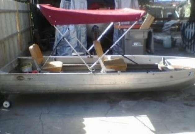 Boat recently purchased by Acemoore Pittman of Oakland. He and his cousin Johnnie Johnson of Hayward died when the boat capsized in the delta June 16, 2012. Photo: Courtesy Of KGO-TV