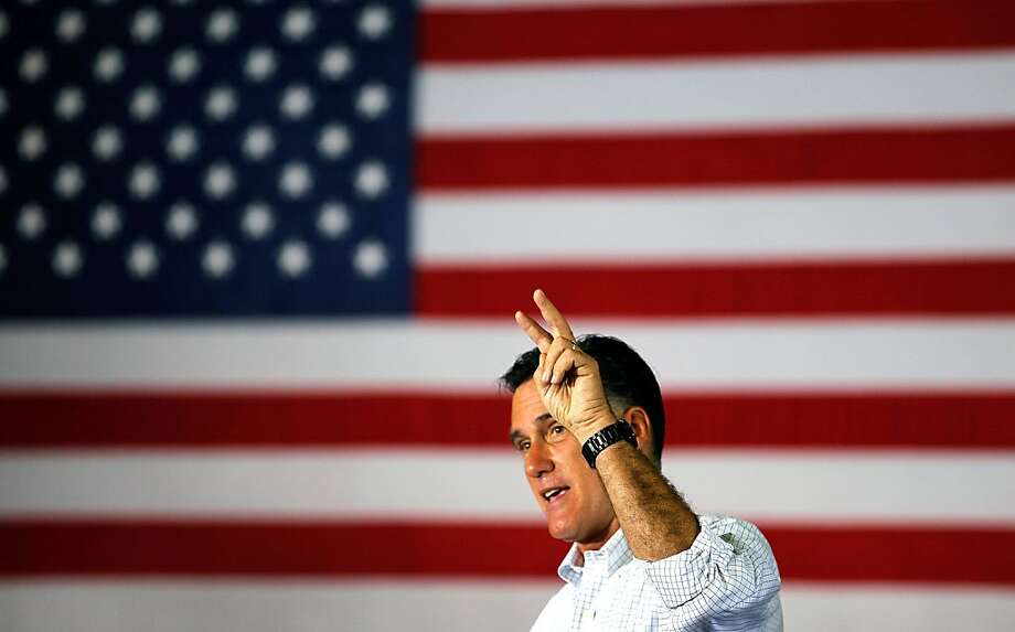 JANESVILLE, WI - JUNE 18:  Republican presidential candidate, former Massachusetts Gov. Mitt Romney speaks during a campaign event at Monterey Mills on June 18, 2012 in Janesville, Wisconsin.  Mr. Romney continues hs campaign swing through battle ground states as he battles President Barack Obama for votes.  (Photo by Joe Raedle/Getty Images) Photo: Joe Raedle, Getty Images