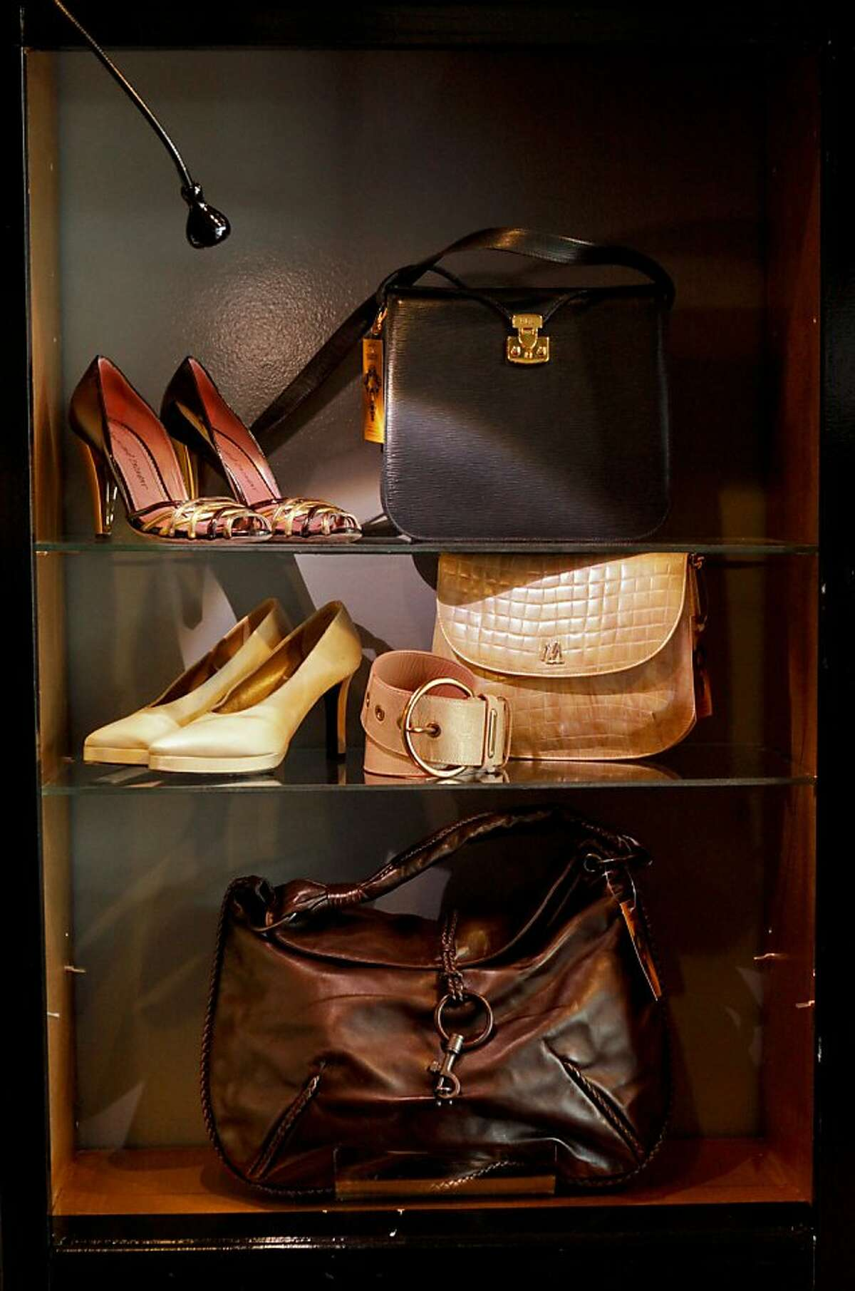 Some of the accessories offered at Sui Generis Illa Boutique are seen on Friday, April 15, 2011 in San Francisco, Calif.