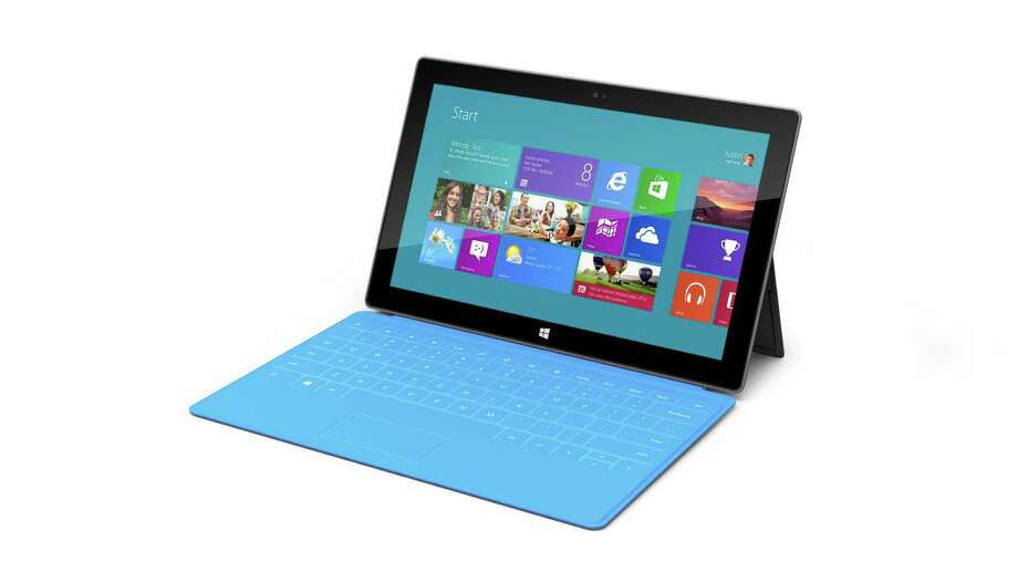 Microsoft's Surface tablet is shown in this company image. Photo: AP