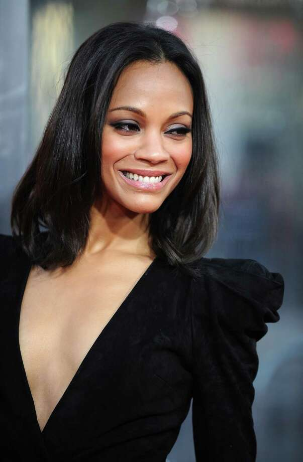 "Actress Zoe Saldana arrives at the premiere of ""The Losers"" in Hollywood, California, on April 20, 2010. AFP PHOTO / GABRIEL BOUYS (Photo credit should read GABRIEL BOUYS/AFP/Getty Images) Photo: GABRIEL BOUYS / AFP"