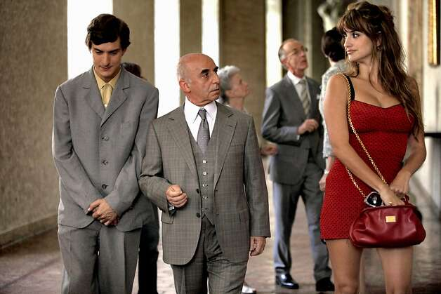 "Woody Allen's ""ToO Rome With Love."": Left to Right: Alessandro Tiberi as Antonio, Roberto Della Casa as Uncle Paolo and Penélope Cruz as Anna Photo: Philippe Antonello, Sony Pictures Classics"