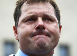 Former Major League Baseball pitcher Roger Clemens pauses as he speaks to the media outside federal court in Washington, Monday, June 18, 2012, after he was acquitted on all charges by a jury that decided that he didn't lie to Congress when he denied using performance -enhancing drugs. (AP Photo/Pablo Martinez Monsivais)
