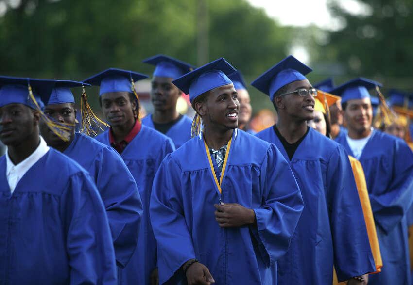 The Warren Harding High School Commencement ceremony at Kennedy Stadium in Bridgeport on Monday, June 18, 2012.