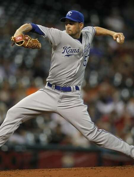 Royals starting pitcher Jonathan Sanchez gave up four runs (three earned) in six innings. (Karen War