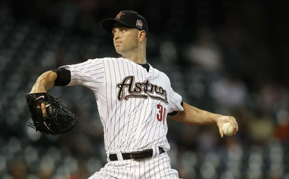 Astros starting pitcher J.A. Happ held the Royals to two runs in six innings. (Karen Warren / Housto