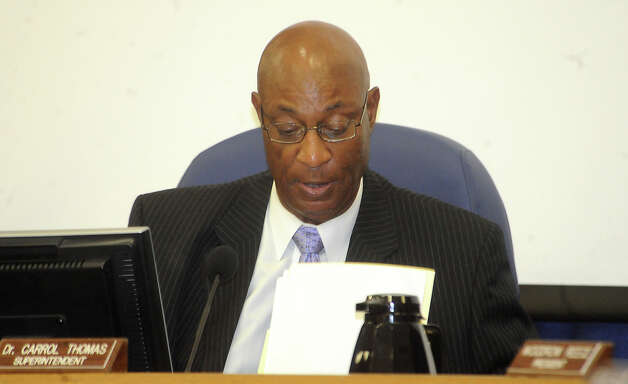 Dr. Carrol Thomas will receive a $156,000 buyout and will leave his post as Beaumont ISD's superintendent on Aug. 31. Tammy McKinley/The Enterprise Photo: TAMMY MCKINLEY / BE