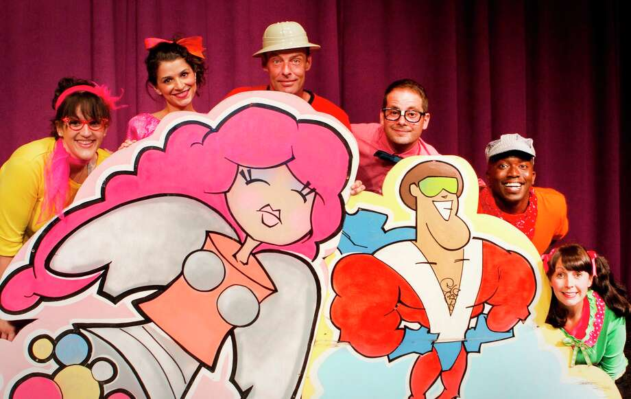 "The cast of Magik Theatre's ""Schoolhouse Rock!"" includes, from left, Ariel Rosen, Aimee Stead, Dylan Collins, Devin Collins and James ""Apollo"" Bradley. Courtesy David Frank"