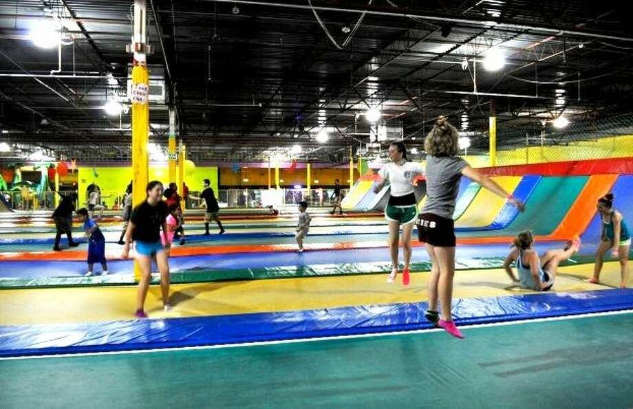Customers at Amazing Jump, a trampoline park in San Antonio Photo: Courtesy Photo