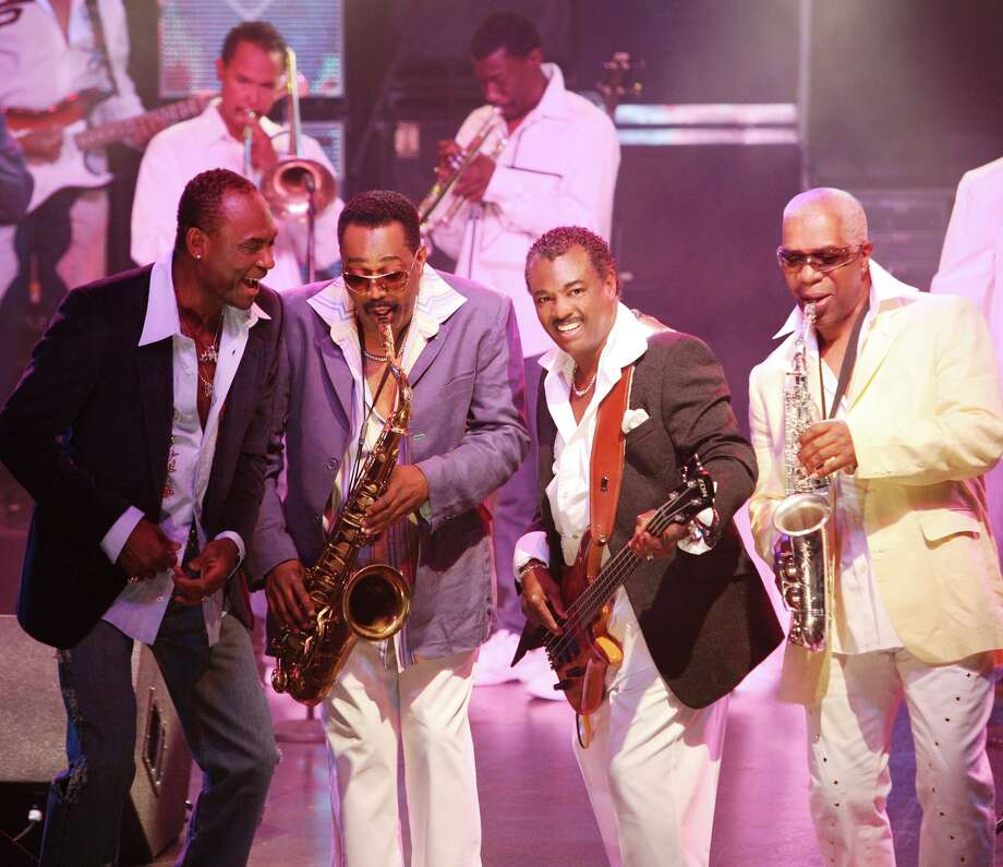 "Legendary funk group Kool & the Gang -- front, from left, GEORGE BROWN, Ronald Bell, Robert ""Kool"" Bell and Dennis Thomas Photo: Courtesy Photo"