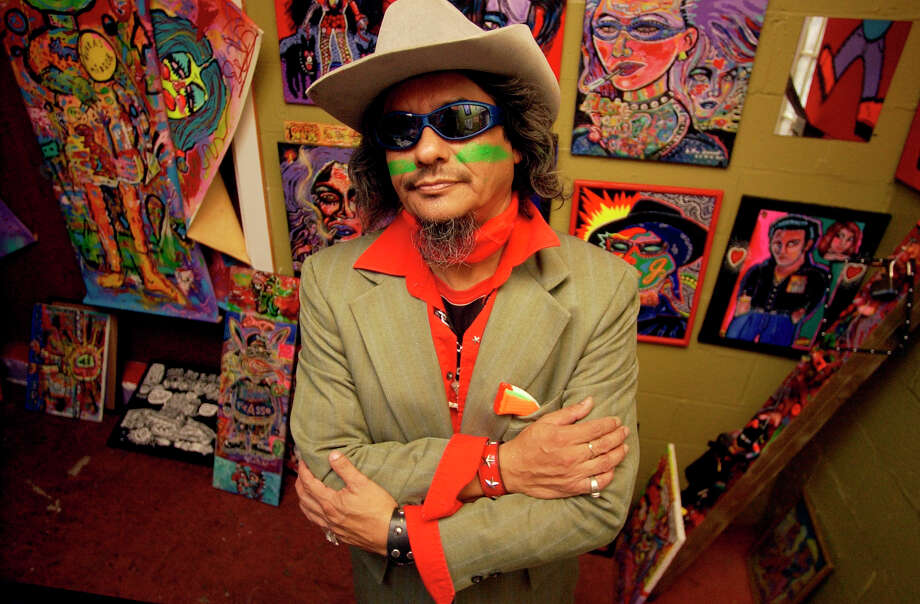 CONEXION: L.A. David is a local artist who is having a burro art show on April 7. Photographed in his art studio on Thursday March 30, 2006.  Helen L. Montoya/Staff Photo: HELEN L. MONTOYA, SAN ANTONIO EXPRESS-NEWS / © San Antonio Express-News